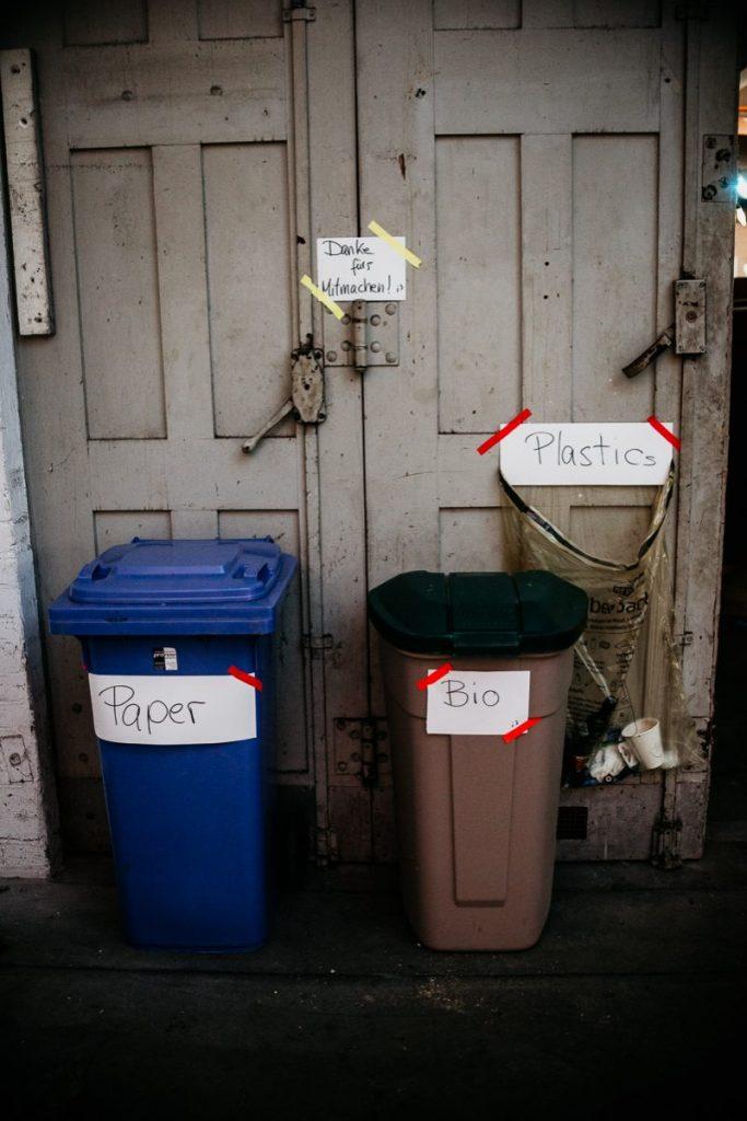 Getrennte Abfallsammlung