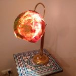 Lampe: Fuß (Flomarkt), Schirm: St Martin Umzugslatterne,