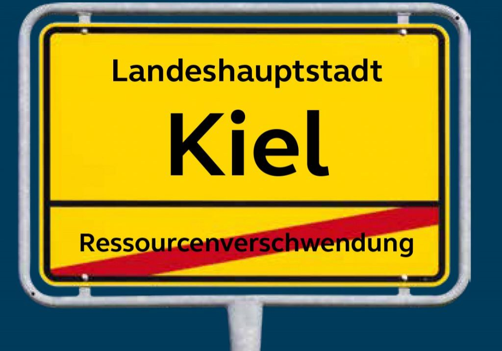 Ortsschild Kiel wird Zero Waste City